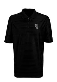 Antigua Chicago White Sox Black Illusion Short Sleeve Polo Shirt