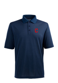 Cleveland Indians Antigua Xtra-Lite Polo Shirt - Navy Blue