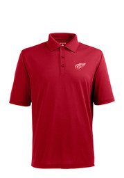 Antigua Detroit Red Wings Mens Red Xtra-Lite Short Sleeve Polo