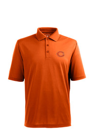 Chicago Bears Antigua Pique Polo Shirt - Orange