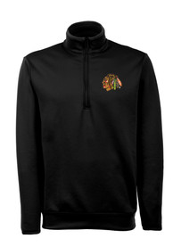Chicago Blackhawks Antigua Leader 1/4 Zip Pullover - Black