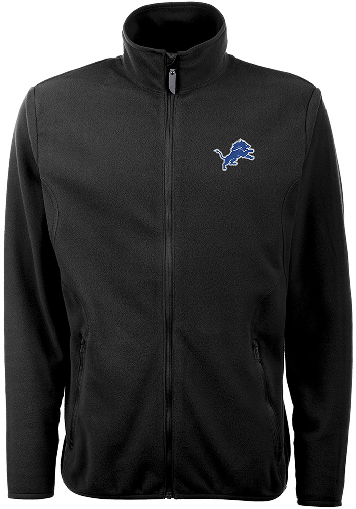 Antigua Detroit Lions Mens Black Ice Light Weight Jacket - Image 1