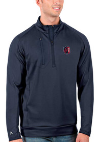 St Louis City SC Antigua Generation 1/4 Zip Pullover - Navy Blue