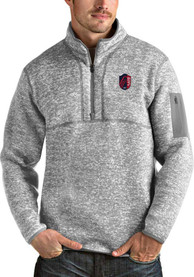 St Louis City SC Antigua Fortune 1/4 Zip Pullover - Grey