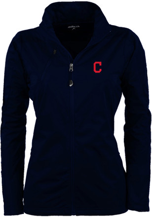 Antigua Cleveland Indians Womens Navy Blue Discover Light Weight Jacket
