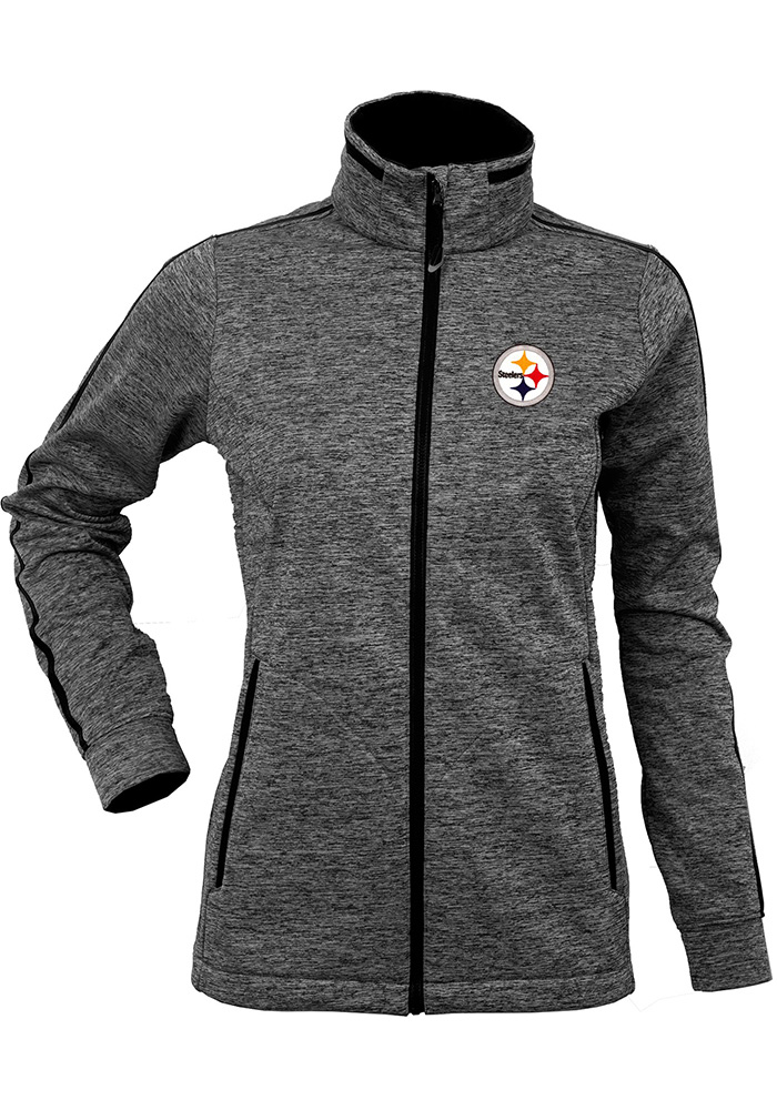 Antigua Pittsburgh Steelers Womens Black Golf Heavy Weight Jacket - Image 1
