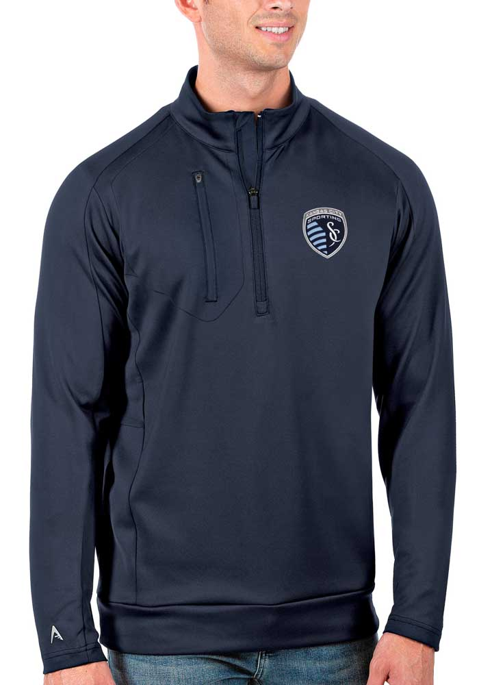 Sporting Kansas City Antigua Generation 1/4 Zip Pullover - Navy Blue