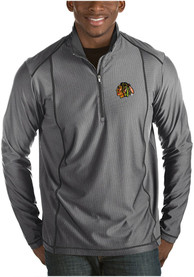 Chicago Blackhawks Antigua Tempo 1/4 Zip Pullover - Grey