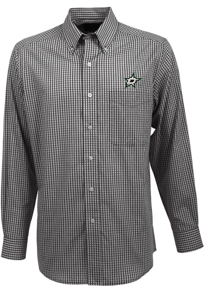 Antigua Dallas Stars Mens Black Associate Long Sleeve Dress Shirt - Image 1