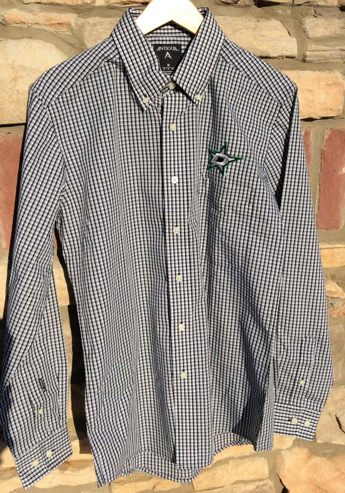 Antigua Dallas Stars Mens Black Associate Long Sleeve Dress Shirt - Image 2