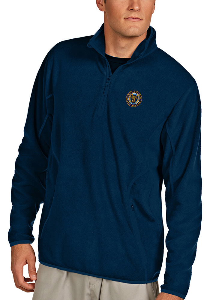Antigua Philadelphia Union Mens Navy Blue Ice Long Sleeve 1/4 Zip Pullover - Image 1