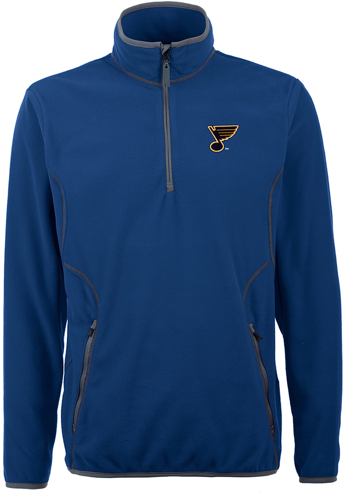 Antigua St Louis Blues Mens Blue Ice Long Sleeve 1/4 Zip Pullover - Image 1