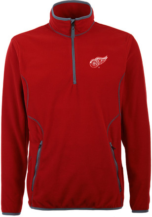 Antigua Detroit Red Wings Mens Red Ice 1/4 Zip Pullover