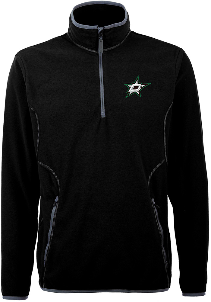 Antigua Dallas Stars Mens Black Ice Long Sleeve 1/4 Zip Pullover - Image 1