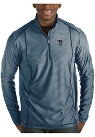 Sporting Kansas City Antigua Tempo 1/4 Zip Pullover - Navy Blue
