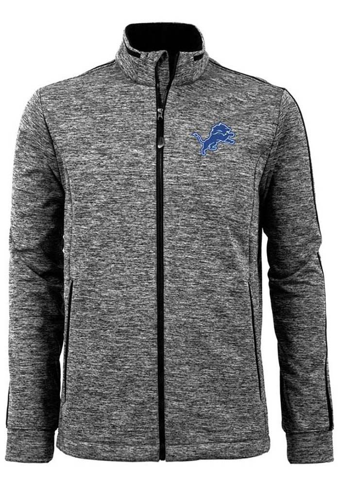 Antigua Detroit Lions Mens Black Golf Medium Weight Jacket - Image 1