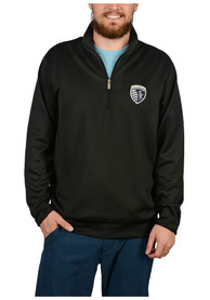 check out 37951 329ab Antigua Sporting Kansas City Black Leader 1/4 Zip Pullover