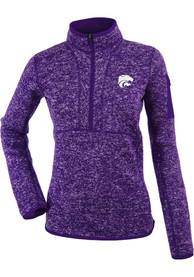 Antigua K-State Wildcats Womens Fortune Purple 1/4 Zip Pullover