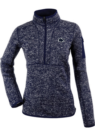 Antigua Penn State Nittany Lions Womens Fortune Navy Blue 1/4 Zip Pullover