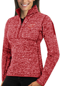 Detroit Red Wings Womens Antigua Fortune 1/4 Zip Pullover - Red