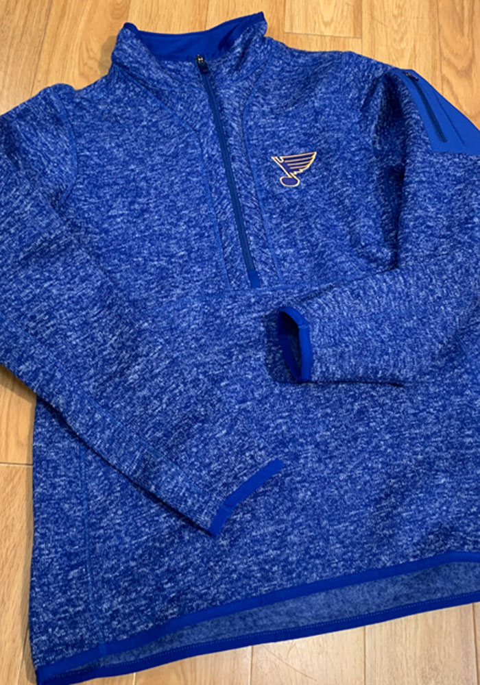 Antigua St Louis Blues Womens Blue Fortune 1/4 Zip Pullover - Image 2