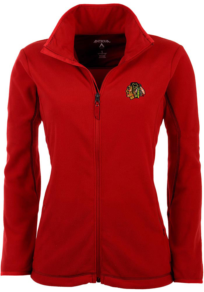 Antigua Chicago Blackhawks Womens Red Ice Medium Weight Jacket - Image 1