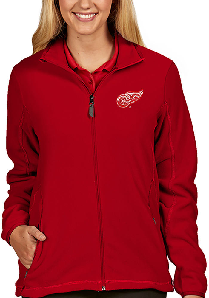 Antigua Detroit Red Wings Womens Red Ice Medium Weight Jacket - Image 1