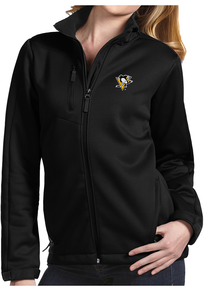 Antigua Pittsburgh Penguins Womens Traverse Black Heavy Weight Jacket df5543ad1