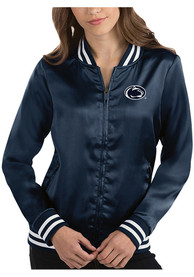 Penn State Nittany Lions Womens Antigua Strut Track Jacket - Navy Blue