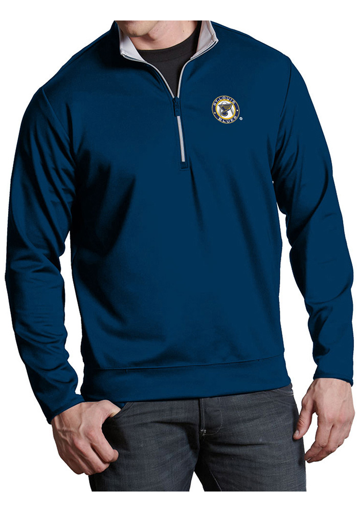 Antigua St Louis Blues Navy Blue Leader 1 4 Zip Pullover 03acfb7b1