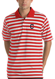 Antigua Cleveland Indians Red Revive Short Sleeve Polo Shirt