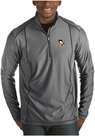 Pittsburgh Penguins Antigua Tempo 1/4 Zip Pullover - Grey