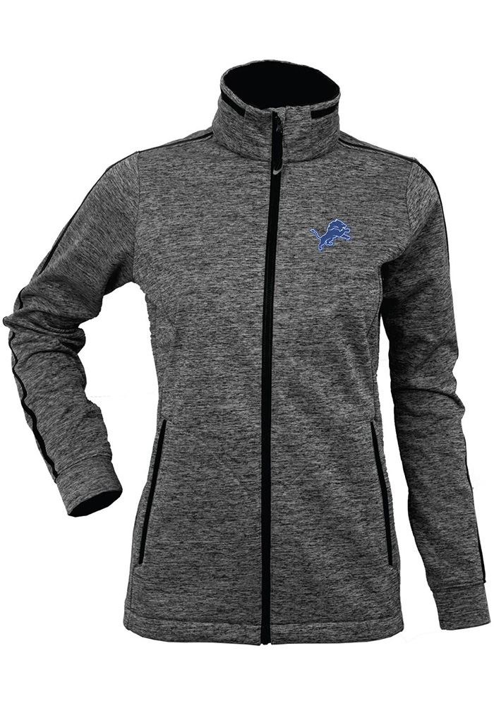 Antigua Detroit Lions Womens Black Golf Heavy Weight Jacket - Image 1