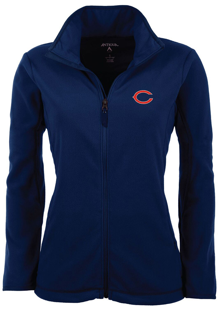 Antigua Chicago Bears Womens Navy Blue Ice Light Weight Jacket - Image 1