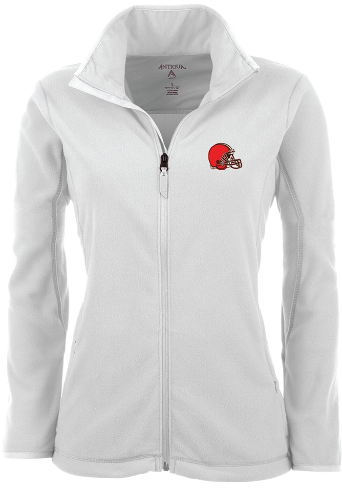 Antigua Cleveland Browns Womens White Ice Light Weight Jacket - Image 1