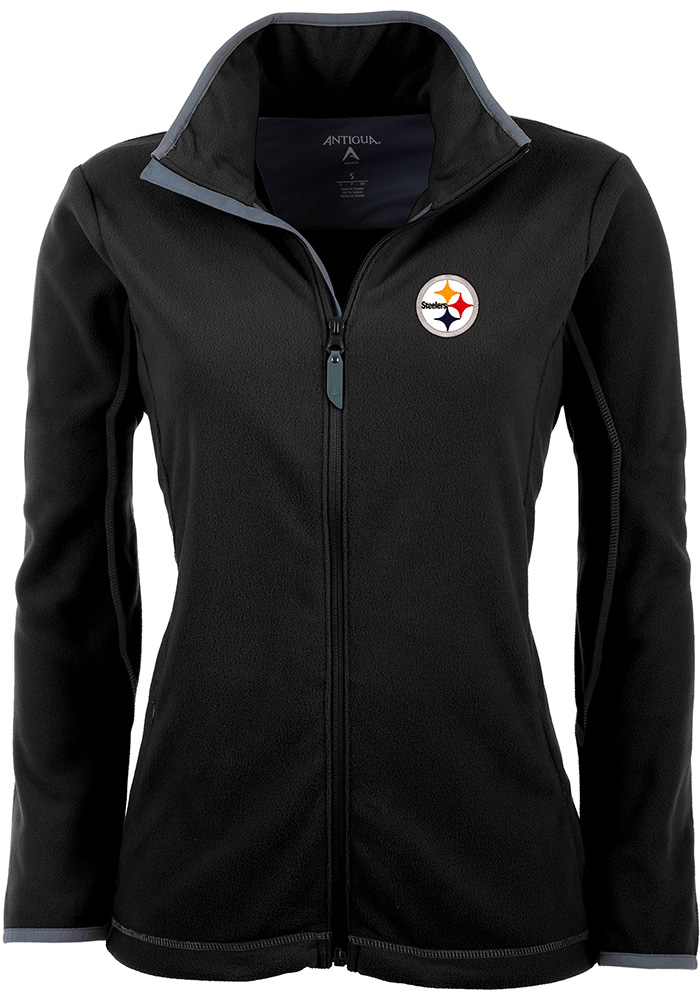 Antigua Pittsburgh Steelers Womens Black Ice Light Weight Jacket - Image 1