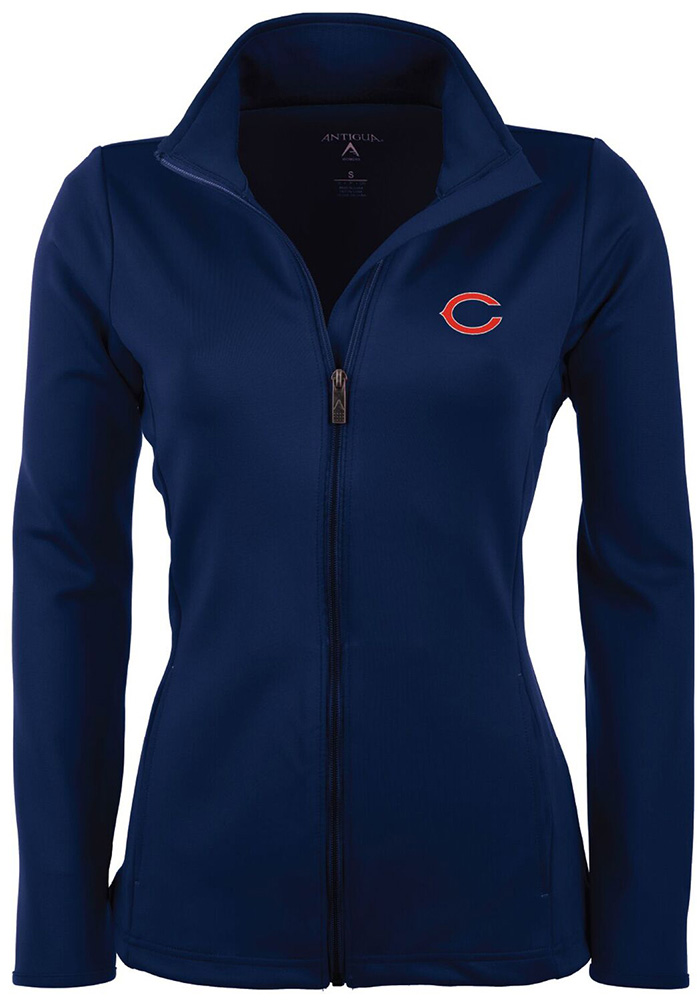 Antigua Chicago Bears Womens Navy Blue Leader Light Weight Jacket - Image 1