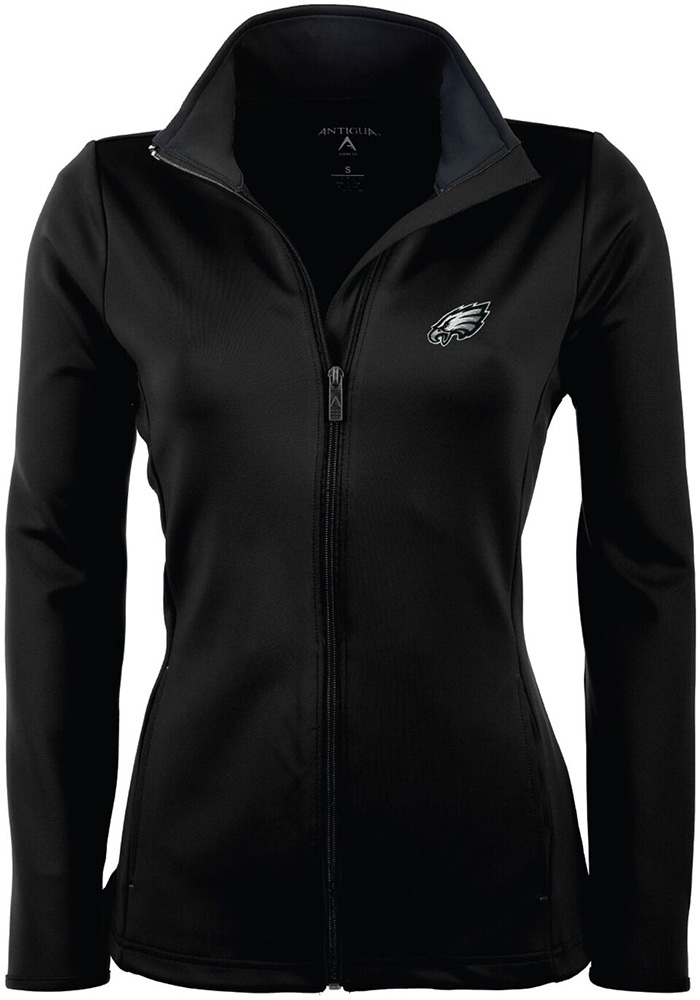 Antigua Philadelphia Eagles Womens Black Leader Light Weight Jacket - Image 1