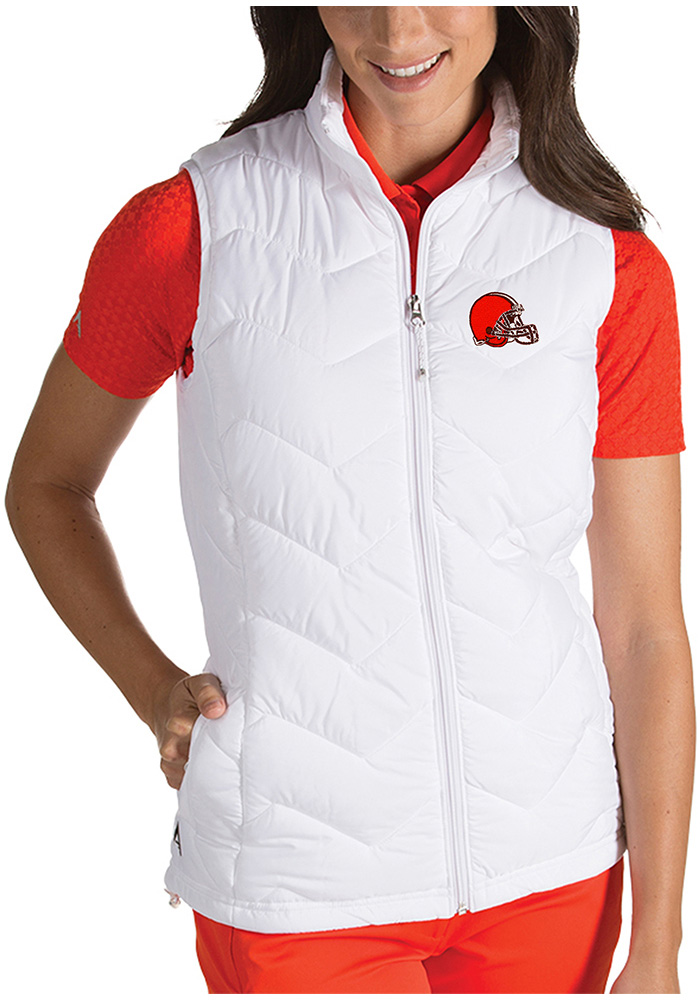 Antigua Cleveland Browns Womens White Heiress Vest - Image 1