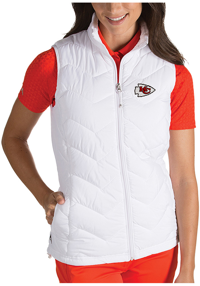 Antigua Kansas City Chiefs Womens White Heiress Vest - Image 1