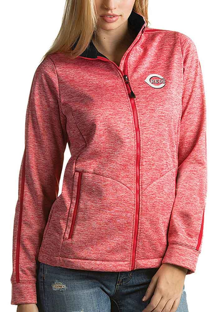 Antigua Cincinnati Reds Womens Red Golf Jacket Heavy Weight Jacket - Image 1