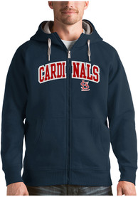 St Louis Cardinals Antigua Victory Full Zip Jacket - Navy Blue