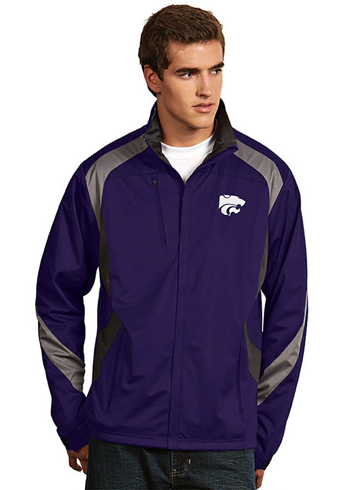 Antigua K-State Wildcats Mens Purple Tempest Light Weight Jacket - Image 1