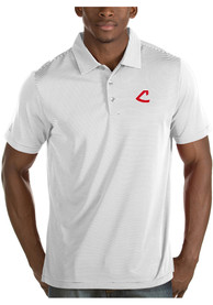 Cleveland Indians Antigua Quest Polo Shirt - White