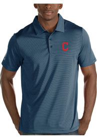 Cleveland Indians Antigua Quest Polo Shirt - Navy Blue
