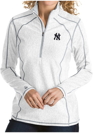 Antigua New York Yankees Womens Tempo White 1 4 Zip Pullover 13f9523c74a