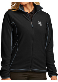 Chicago White Sox Womens Antigua Ice Medium Weight Jacket - Black