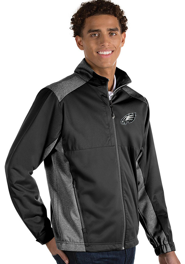 Antigua Philadelphia Eagles Mens Black Revolve Light Weight Jacket - Image 1
