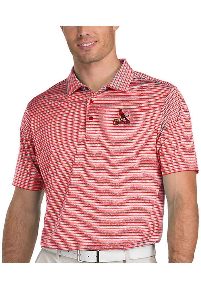 Antigua St Louis Cardinals Mens Red Switch Short Sleeve Polo - Image 1