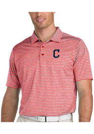 Antigua Cleveland Indians Red Switch Short Sleeve Polo Shirt